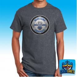 """Blueline K9 Logo"" DARK HEATHER T-SHIRT"